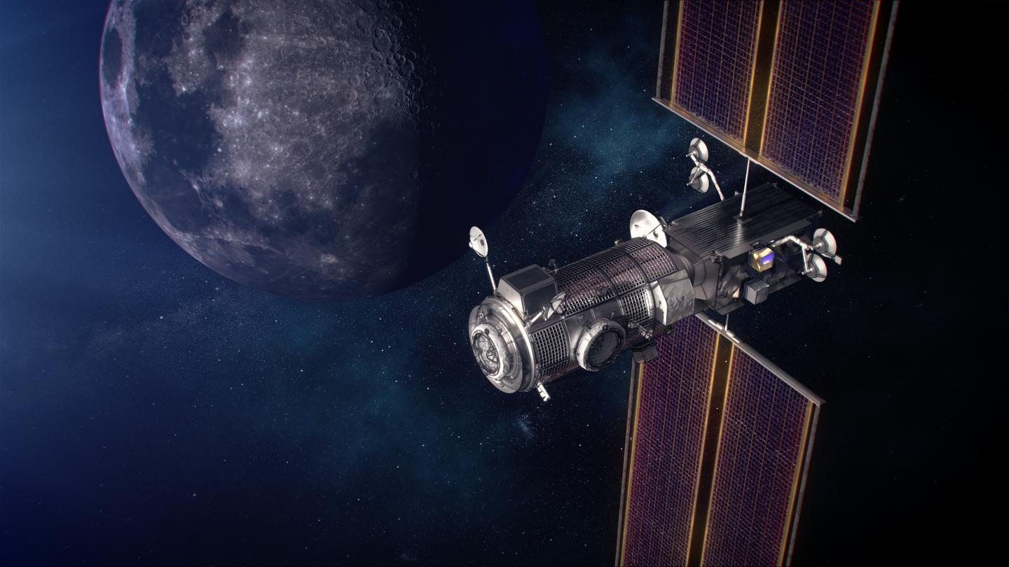 An artist's impression of the gateway in lunar orbit