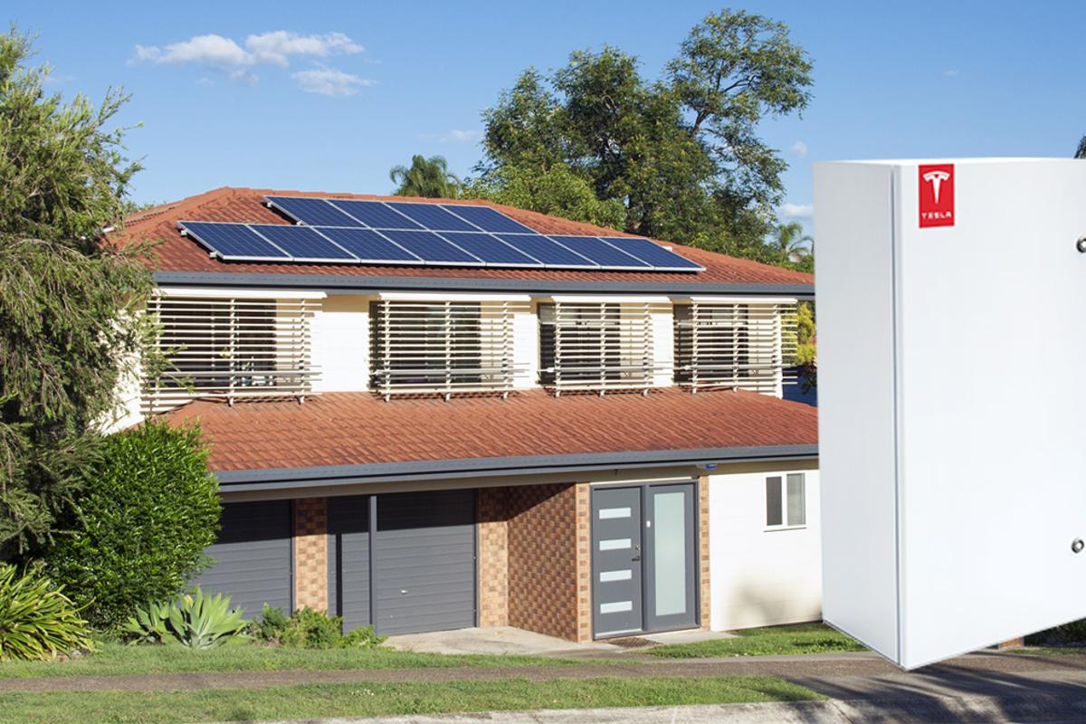 Tesla home battery, which is currently produced for SolarCity's home energy storage system (House Photo: Shutterstock)