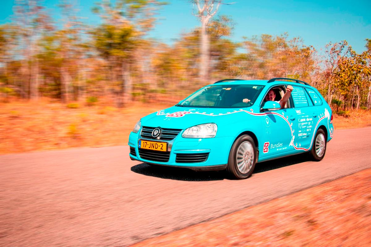 Aft more than a thousand days on the road, Wiebe Wakker and his Blue Bandit electric car have arrived in Adelaide, Australia