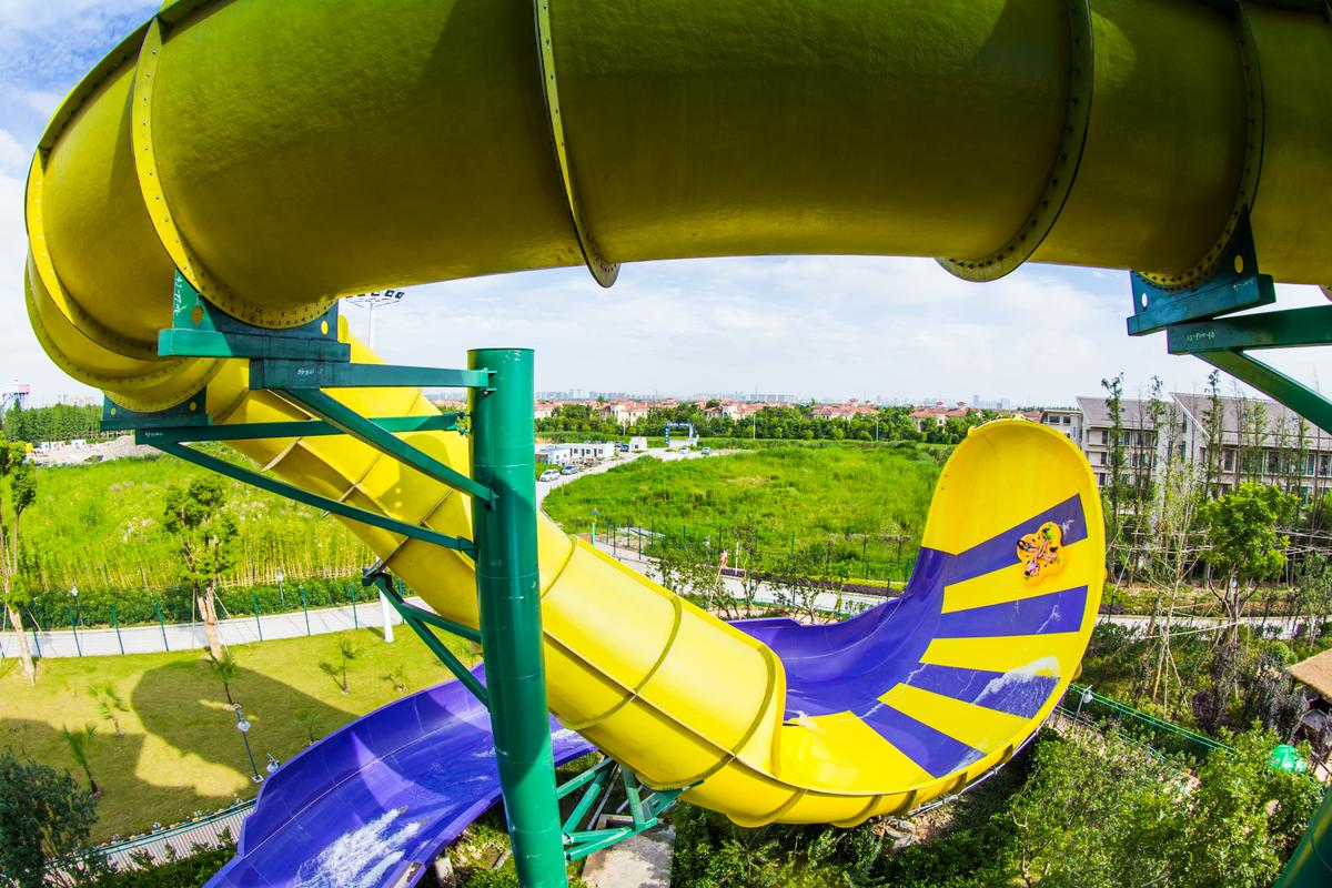 ProSlide's TornadoWAVE sends riders across a massive curved wall to create a momentary sense of weightlessness