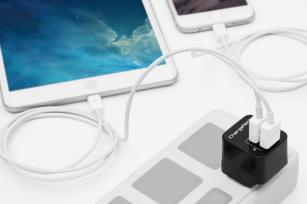 The ChargeTech adapter can be used with phones and tablets, smartwatches, Bluetooth speakers and basically anything else with a USB charging cable
