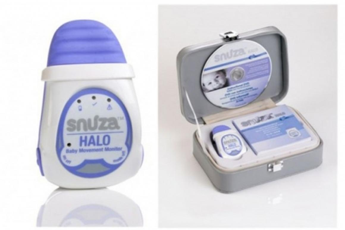 Snuza movement monitor attaches to baby's diaper