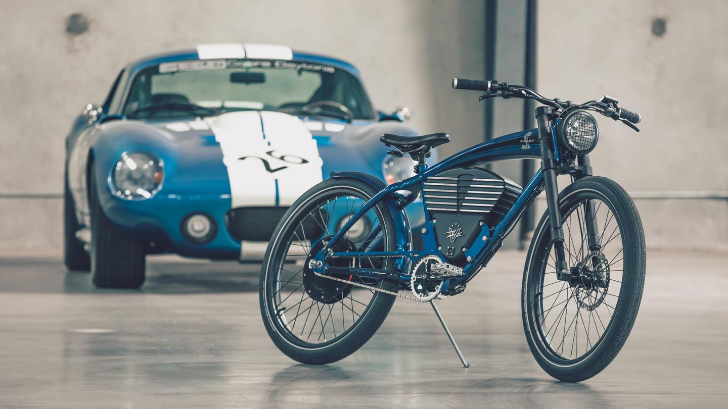Pretty much everything on this e-bike is a design nod to the Cobra