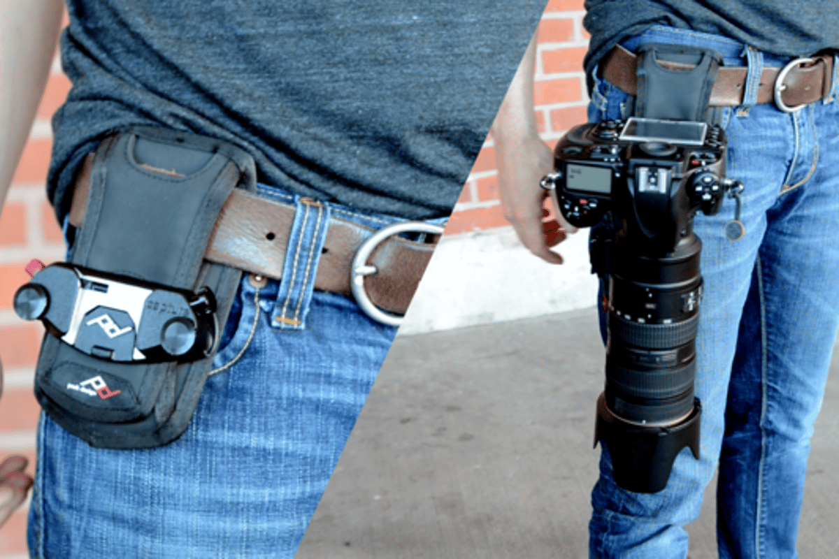 The Capture Camera Clip v2 allows you to clamp your DSLR camera onto any belt buckle or backpack