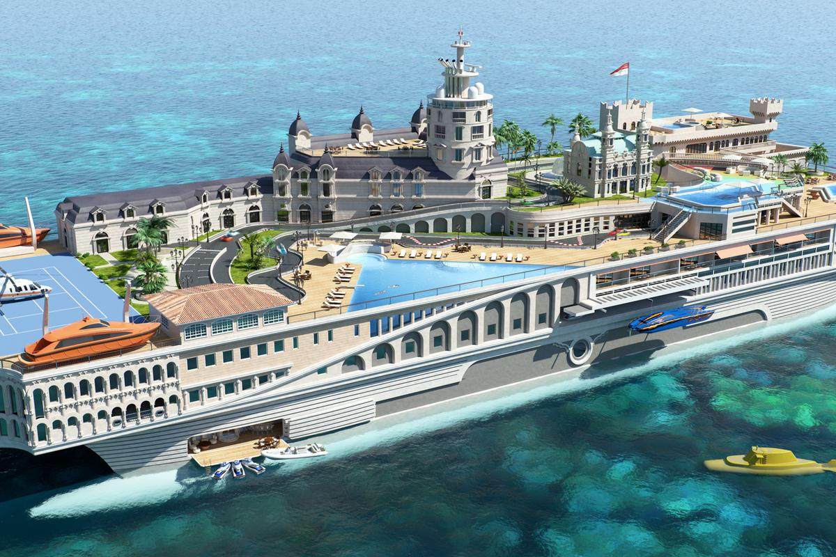 The Streets of Monaco themed superyacht concept