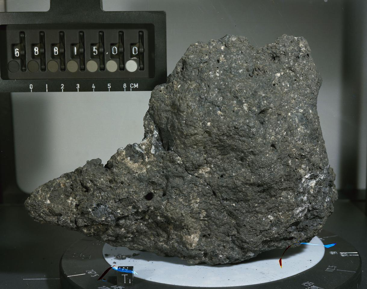 Th UMD study used lunar samples from the Apollo 16 mission to compare tungsten isotope levels (Photo: NASA/JSC)