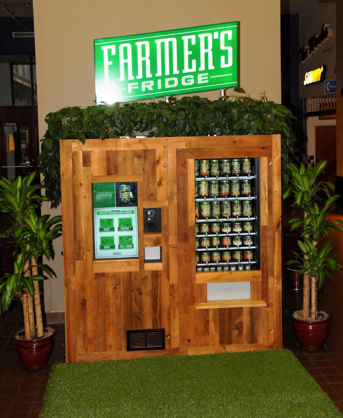 Farmer's Fridge is a healthy food kiosk