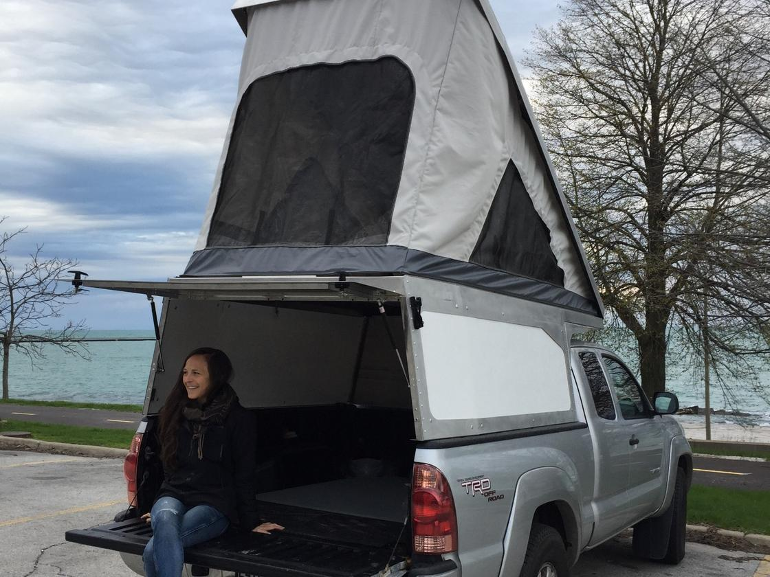 Leentu's latest product, the Sunzal Utility Pop-up, provides a light, simple and affordable way of truck camping