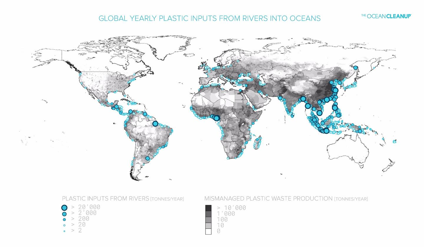 The team has worked its data on river waste into an interactive map