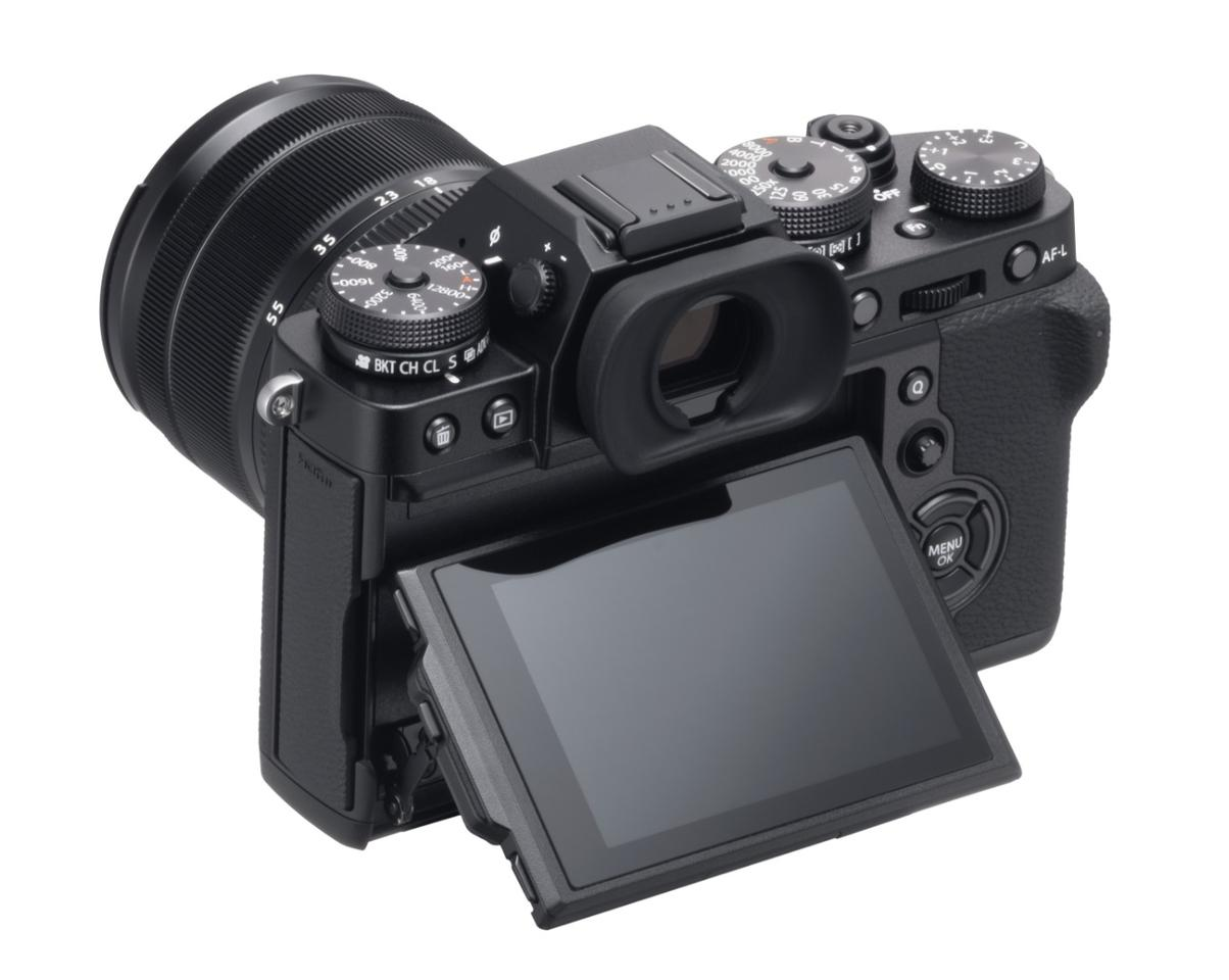 The X-T3 gains an articulating 3-inch, 1.04-million dot touch-enabled display panel