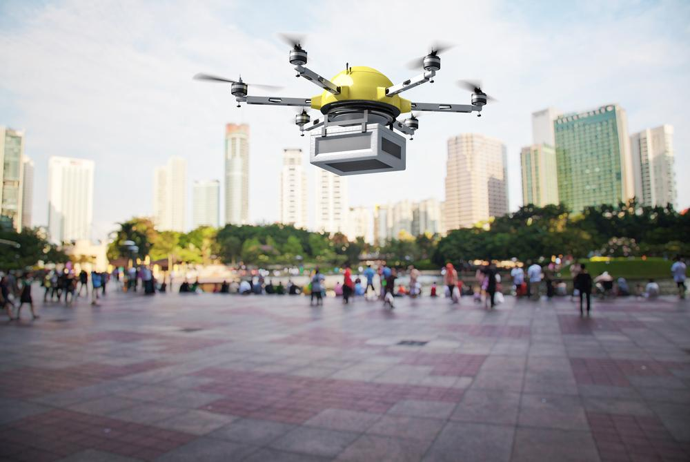 Amazon has been granted permission to test delivery drones outdoors in the US (Image: Shutterstock)