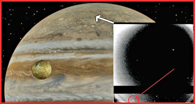 March 5, 1979 image of Jupiter by Voyager I showing a fireball in the atmosphere (Photo: NASA)