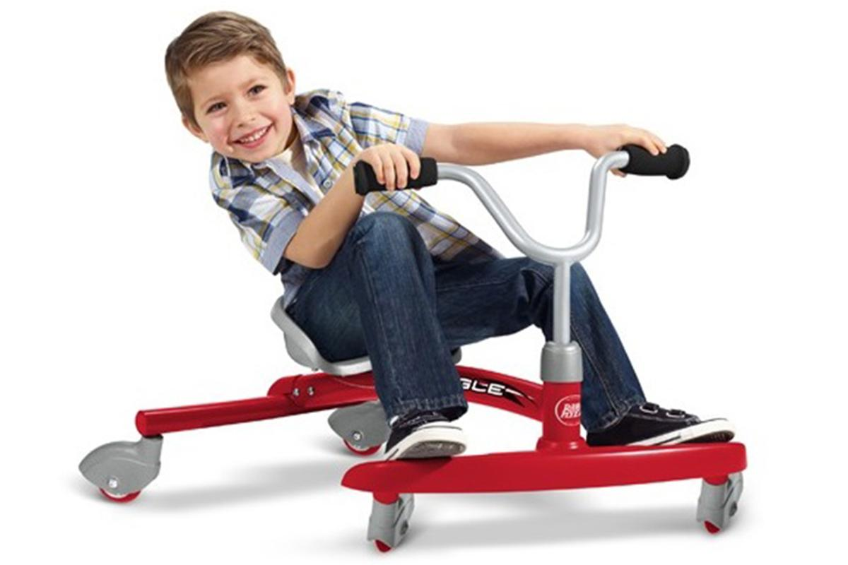 Ziggle is a ride-on car for kids which utilizes the force of lateral friction to propel it forward