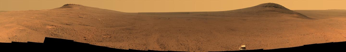 One of the last images taken by Opportunity before the dust storm closed in