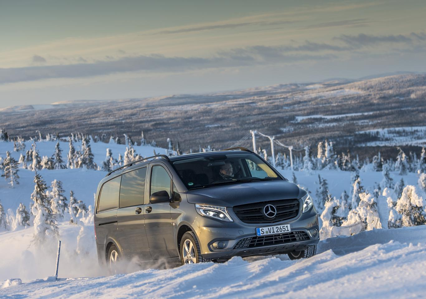 The new Mercedes Vito 4x4 is now available