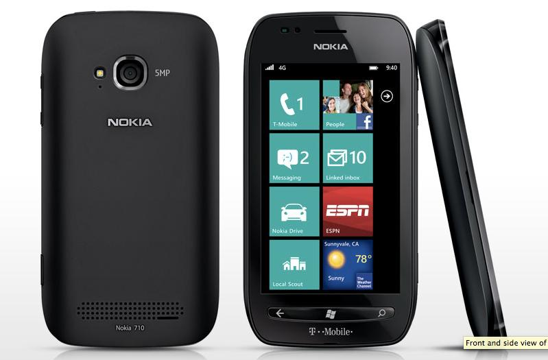 The Lumia 710 will be the first Nokia-branded Windows Phone in the U.S.