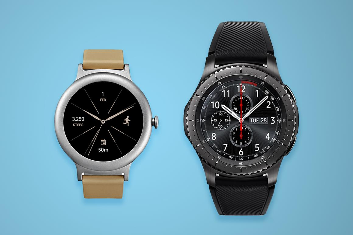 Comparing the relatively minimalLG Watch Style with the hulking SamsungGear S3