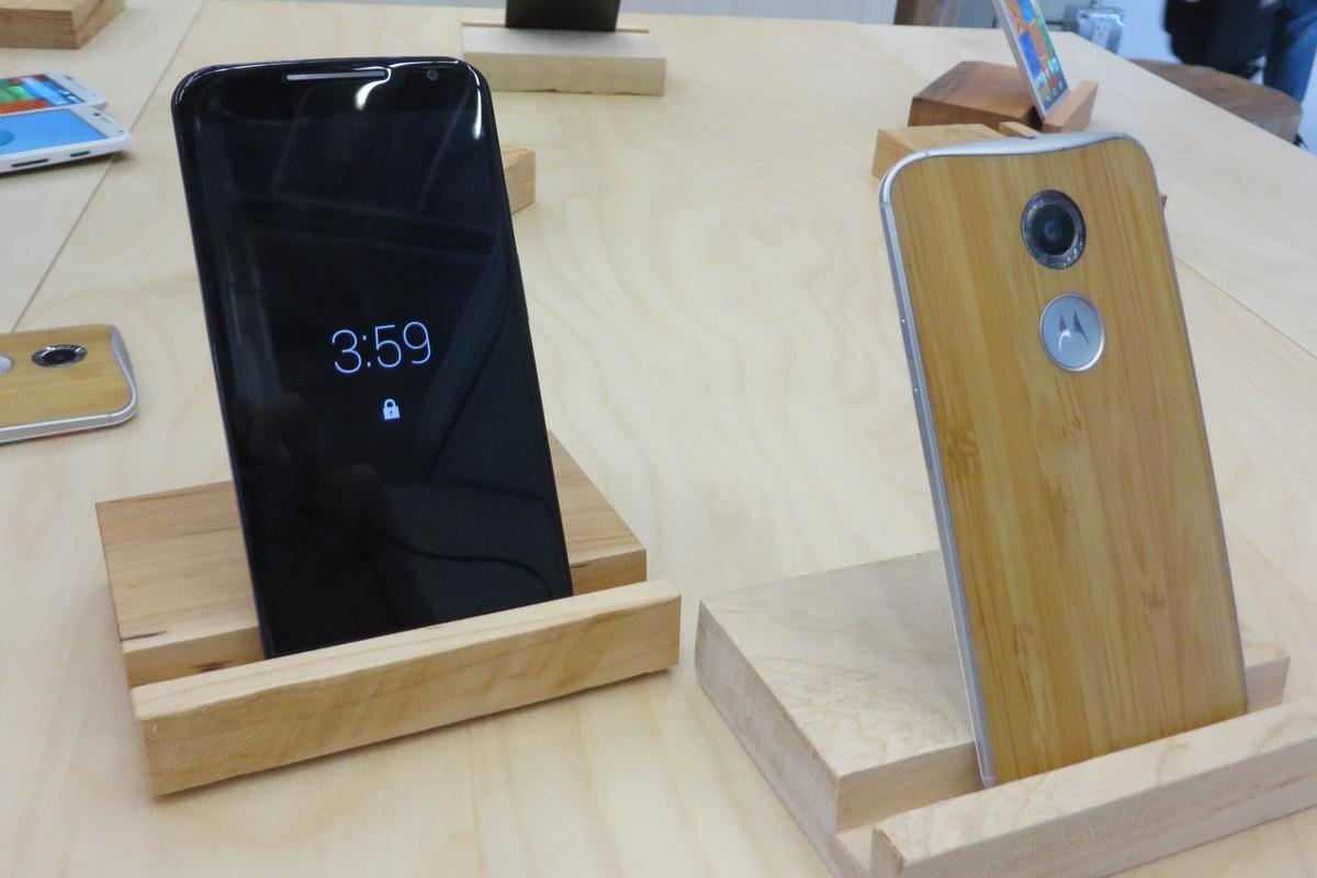 The new Moto X has been upgraded as well as upsized (Photo: Eric Mack/Gizmag.com)