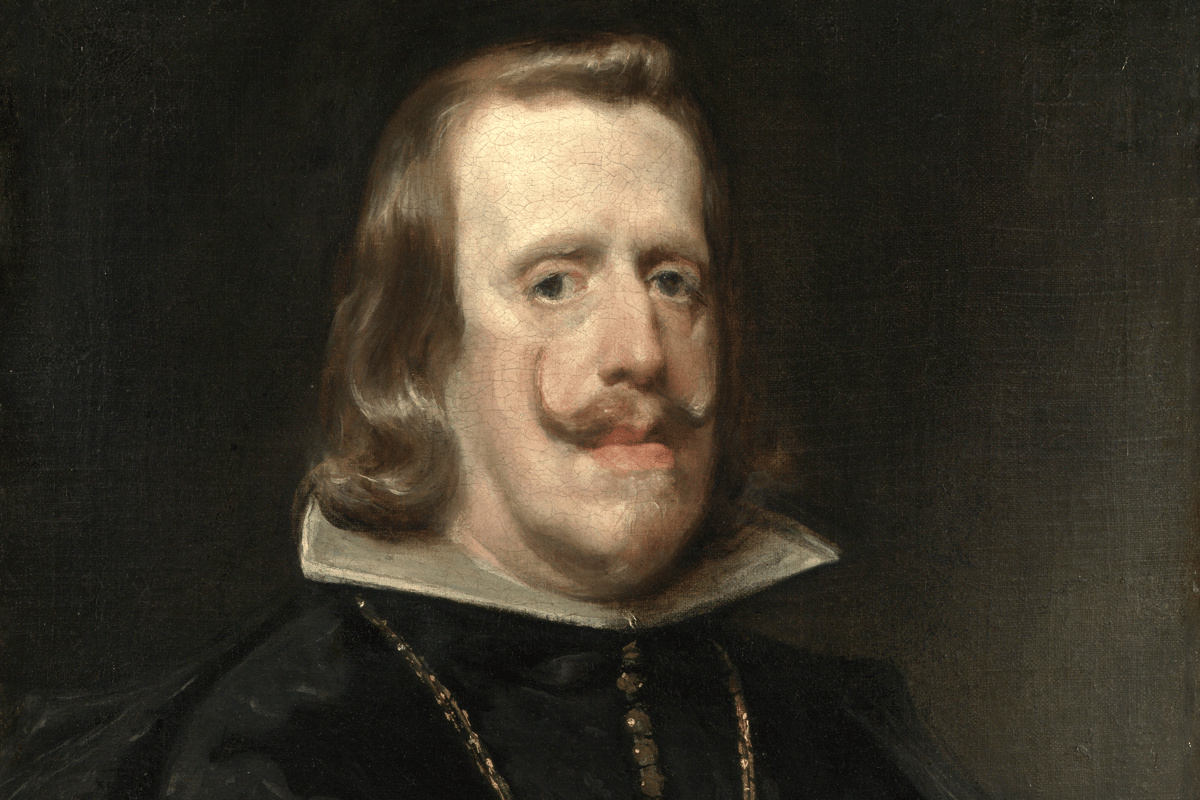 Philip IV of Spain, painted here by Diego Velázquez, had a prominent Habsburg jaw