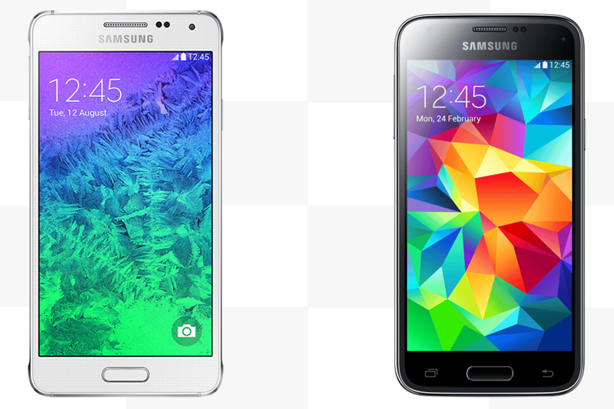 The Samsung Galaxy Alpha and Galaxy S5 mini may be a similar size, but they're very different devices