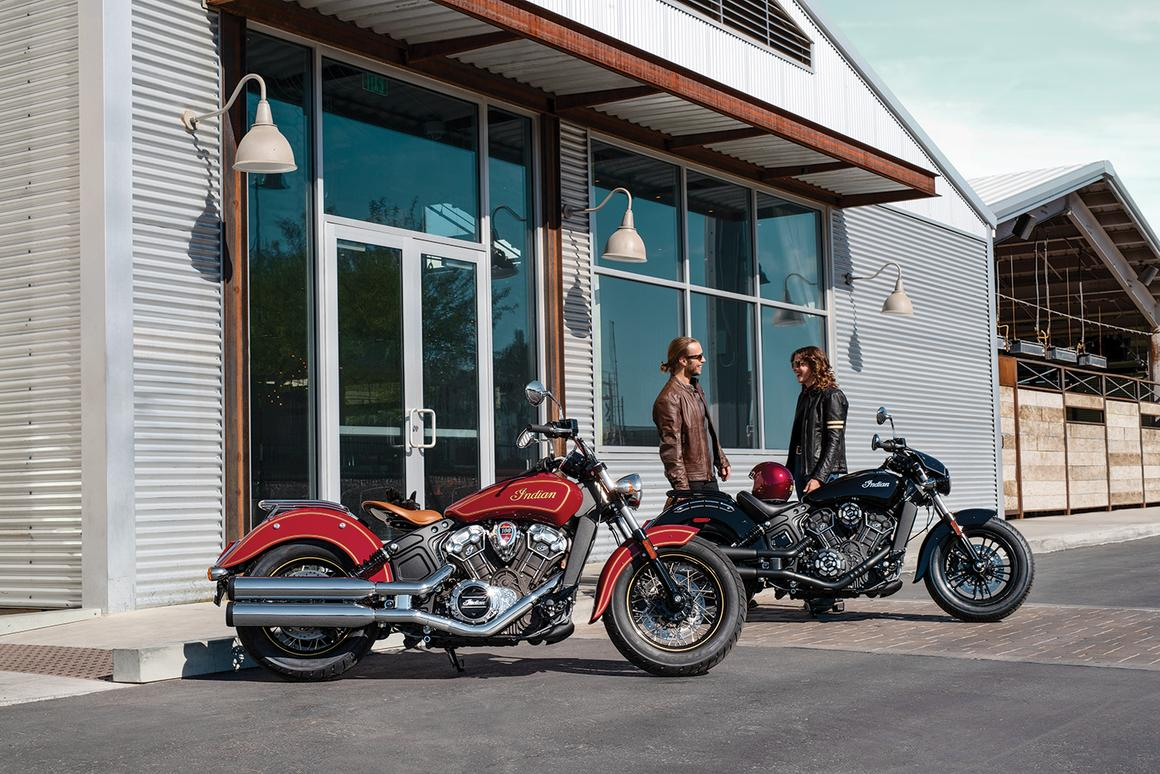 The limited-edition Scout 100th Anniversary and Bobber Twenty