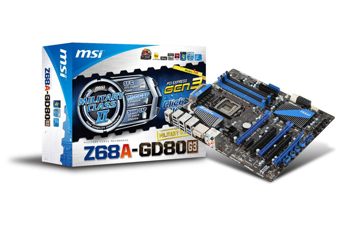 Taiwanese manufacturer MSI has announced a new motherboard Z68A-GD80 (G3) utilizing two PCIe 3.0 slots (1x16, 1x8).