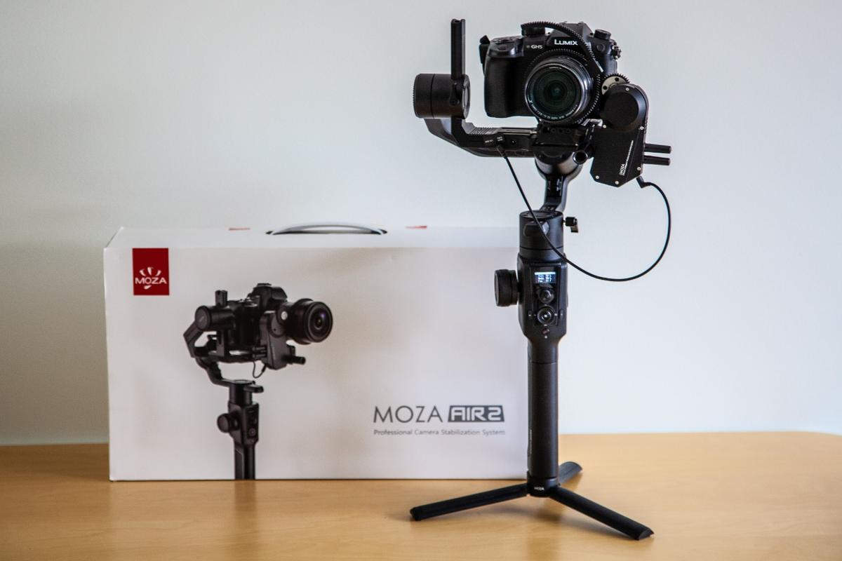Moza's Air 2 steps things up a level with new features like a quick-release plate, focus controller and a tilted roll arm that lets you see the rear screen on your camera without tilting it out