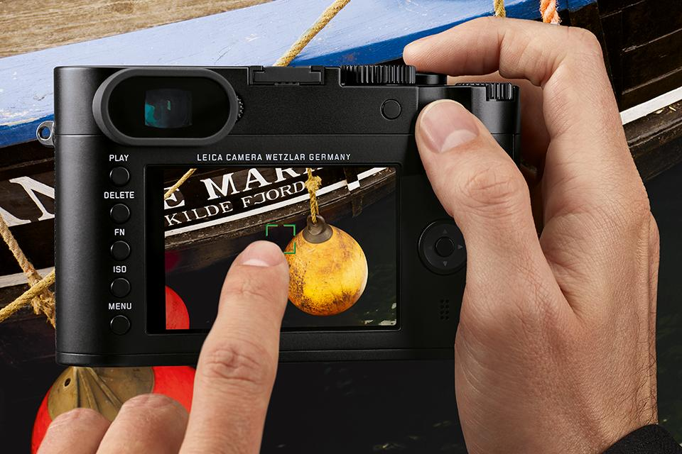 The Leica Q features a 3-inch touchscreen on the rear of the camera