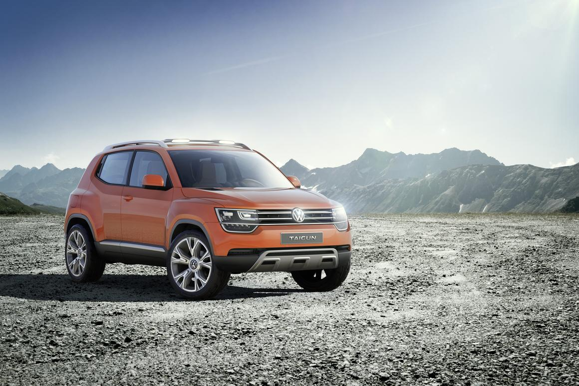 The second iteration of Volkswagen's Taigun compact SUV concept that debuted in New Delhi