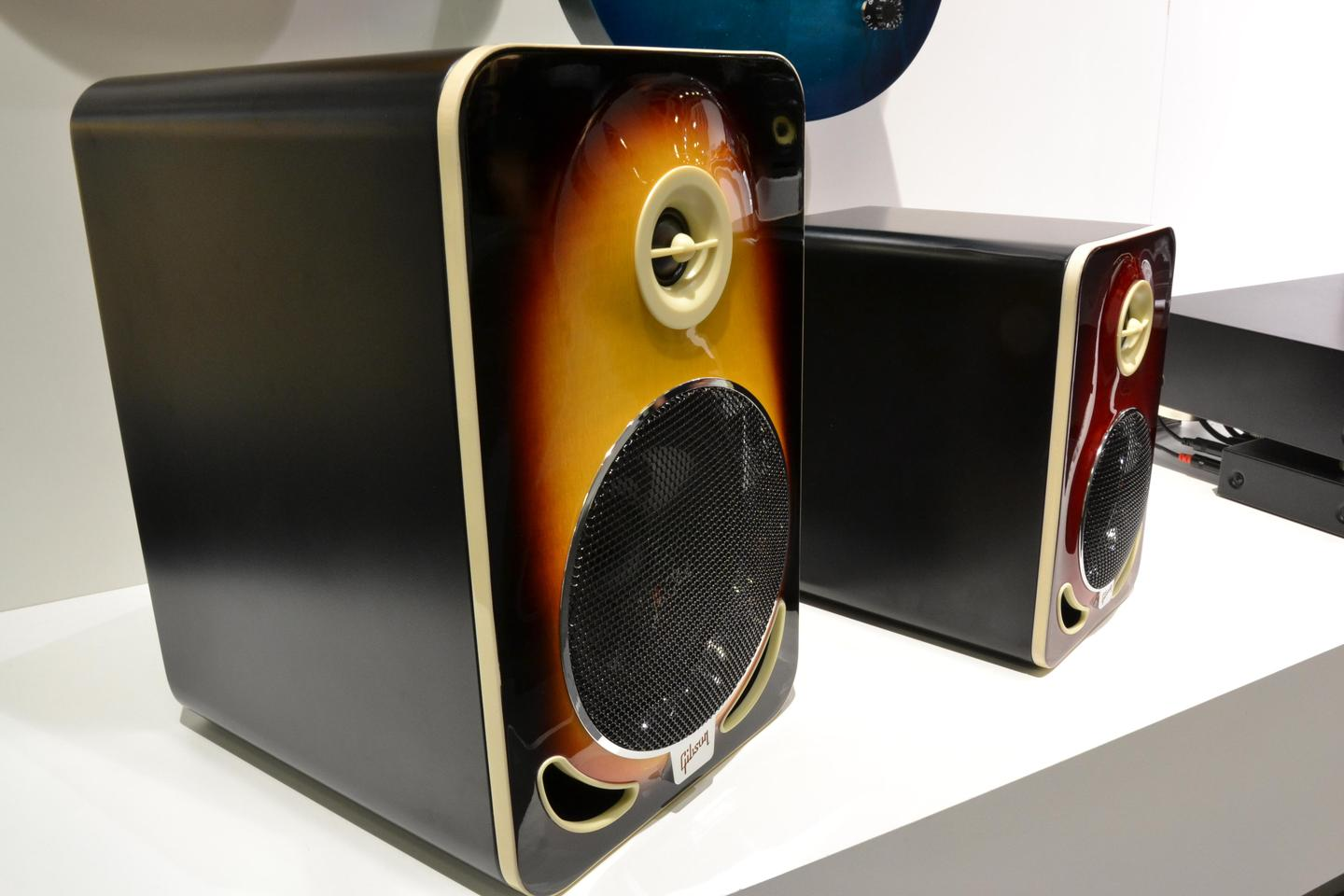 The Les Paul 4 and Les Paul 6 Reference speakers at IFA 2014 (Photo: Paul Ridden/Gizmag)