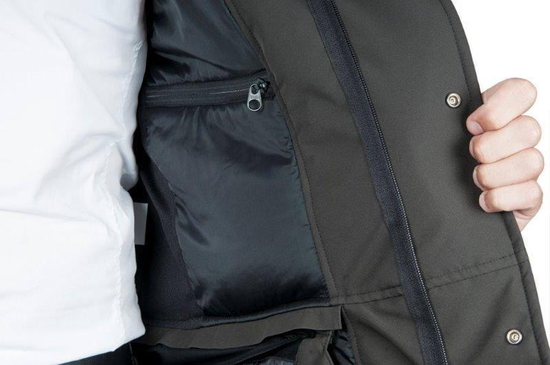 The jacket has plenty of inside and outside pocket space