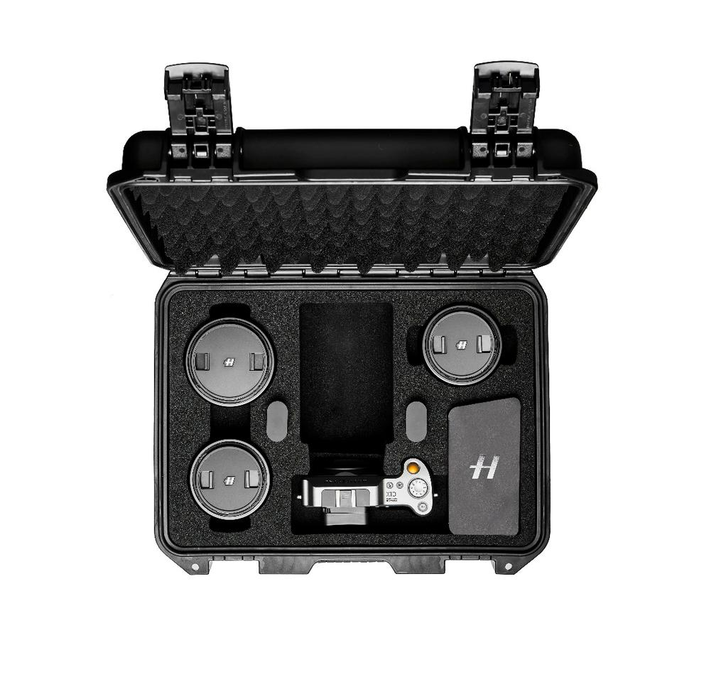 The X1D Field Kit is designed to keep camera and accessories safe during transit