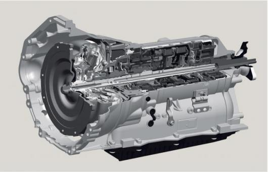 The basis of the new ZF automatic transmission generation is an entirely new transmission concept featuring four planetary gear sets and five shift elements.