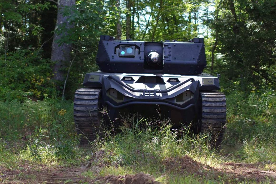 The Ripsaw M5 RCV - a mid-sized, remote controlled tank