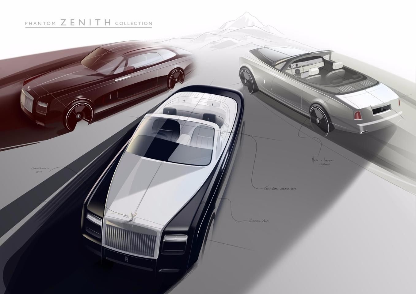 The Phantom Zenith Collection was conceived to celebrate the Phantom Drophead Coupé and the Phantom Coupé before the two models are discontinued
