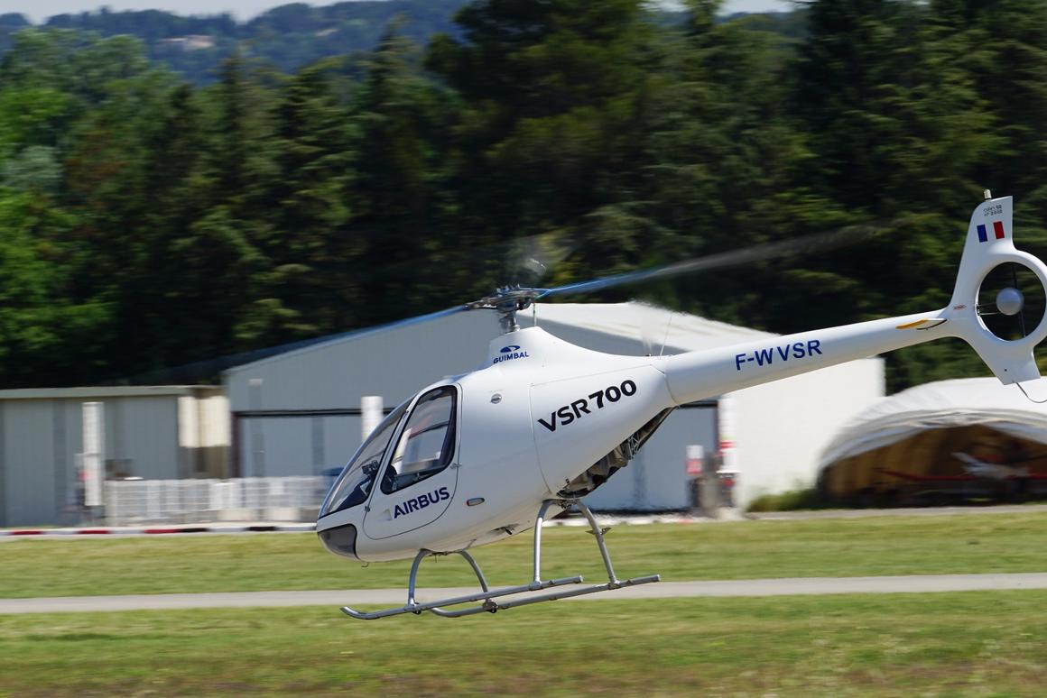 The VSR700 demonstrator in flight