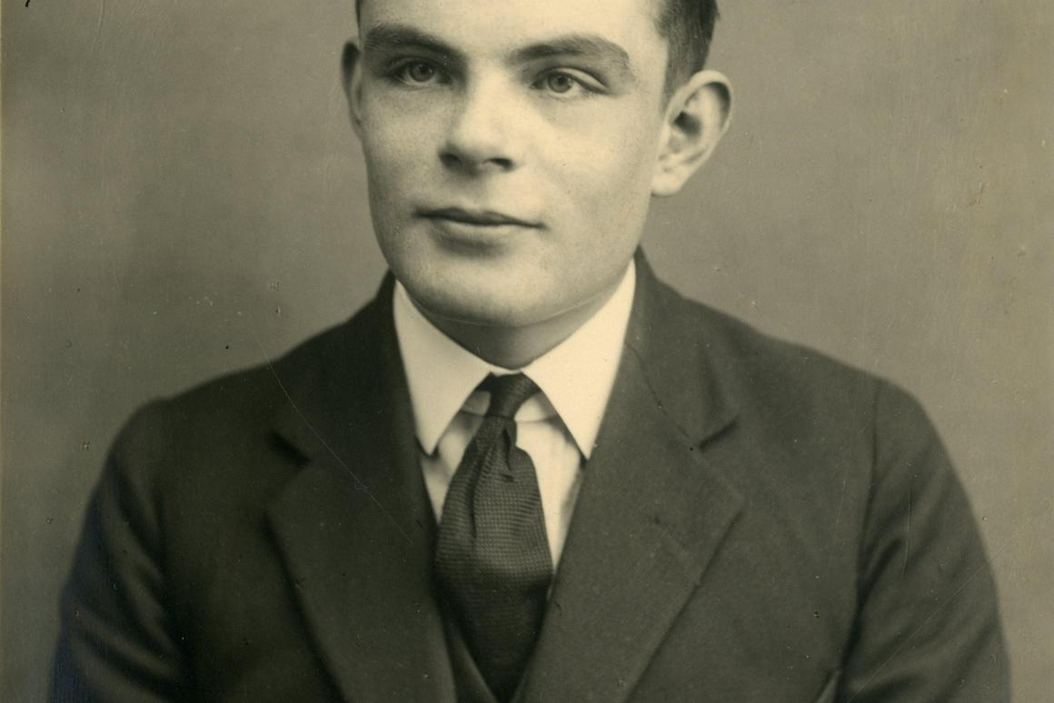 "In the notebook, Turing reportedly ""works on the foundations of mathematical notation and computer science"""