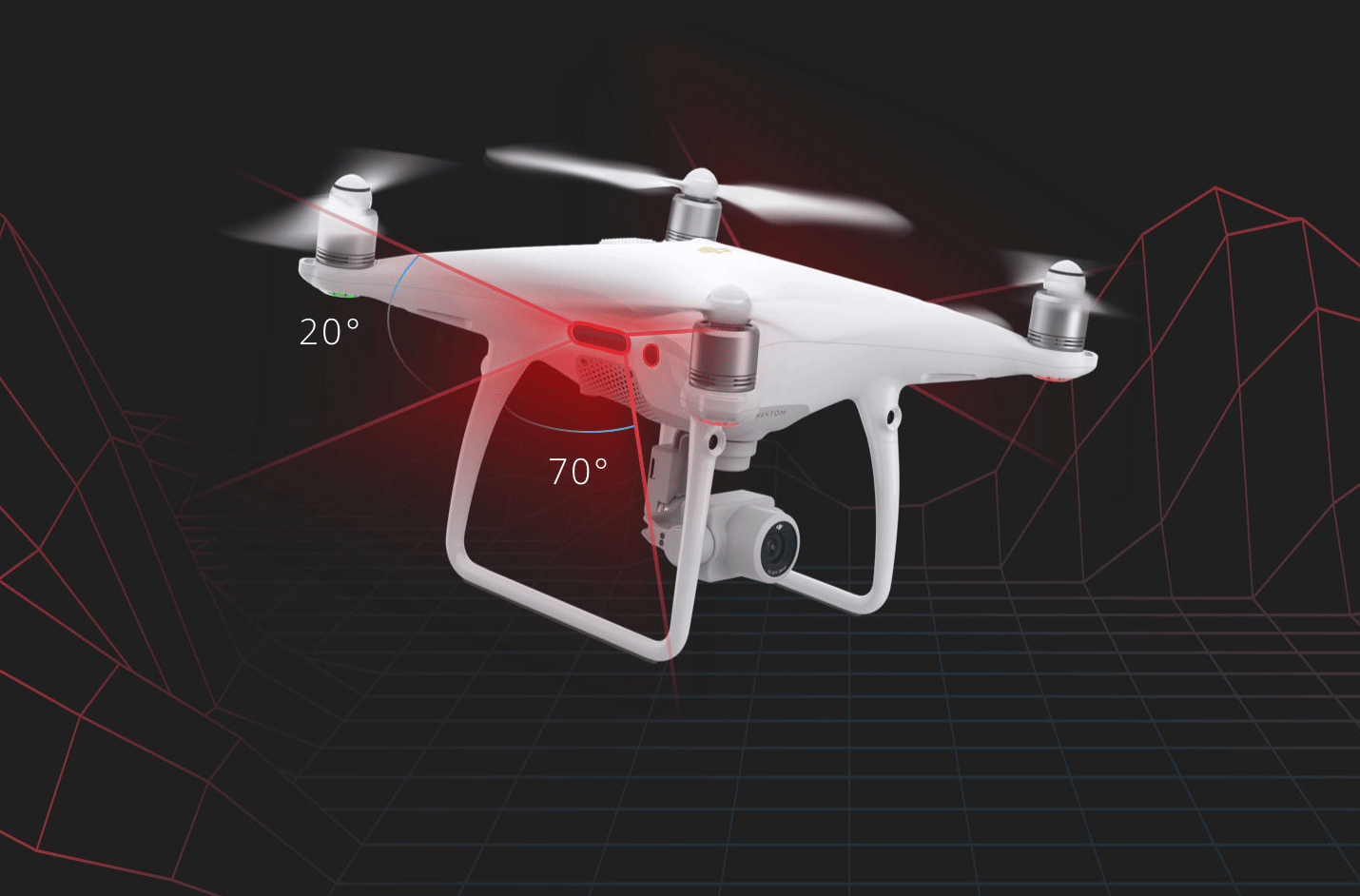 The new Phantom is the first DJI drone to incorporate an infrared sensing system