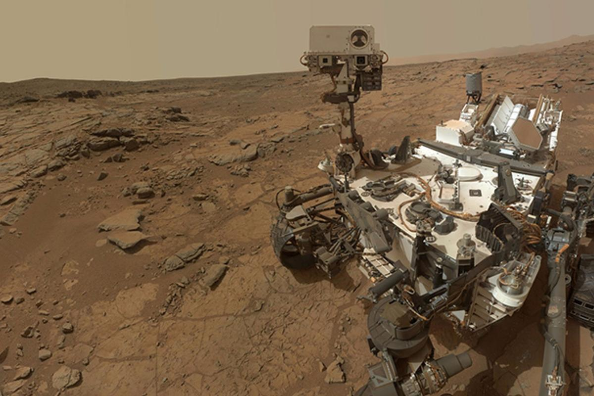 A self-portrait of NASA's Mars rover Curiosity
