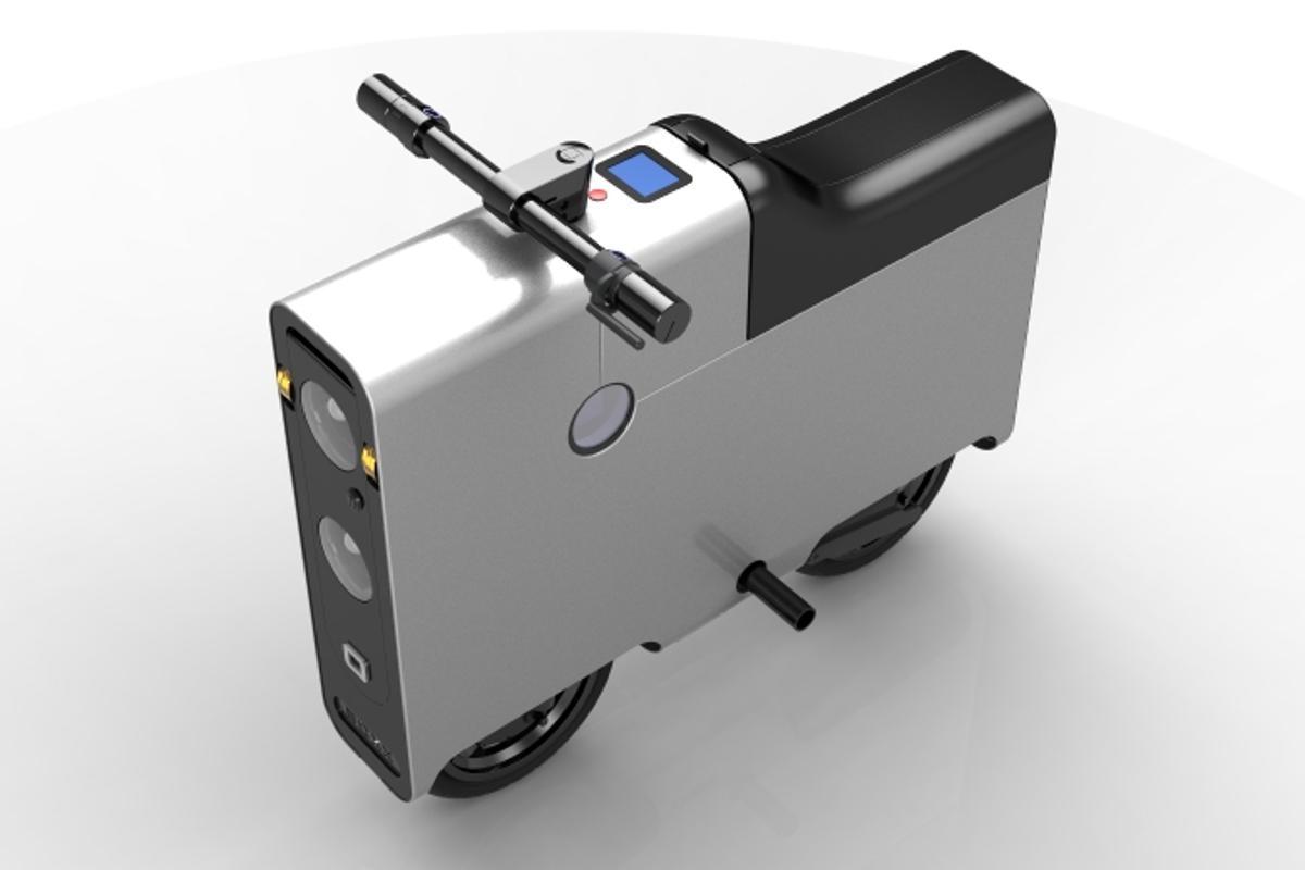 "The top view of the BOXX spotlights its ""ergonomic design"" (Photo: BOXX)"