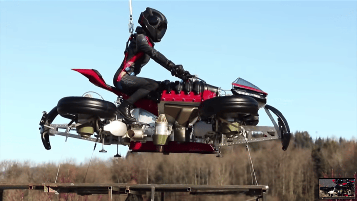 Lazareth's transforming, flying motorcycle demonstrates a