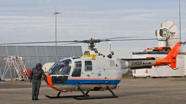The LEVoG-equipped DLR Bo 105 research helicopter