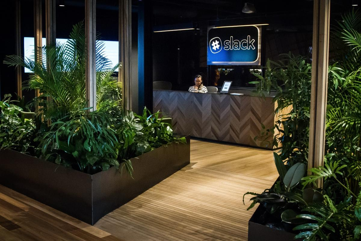 The architects behind Slack's new Melbourne headquarters say that all materials used in the fit out are sustainably sourced