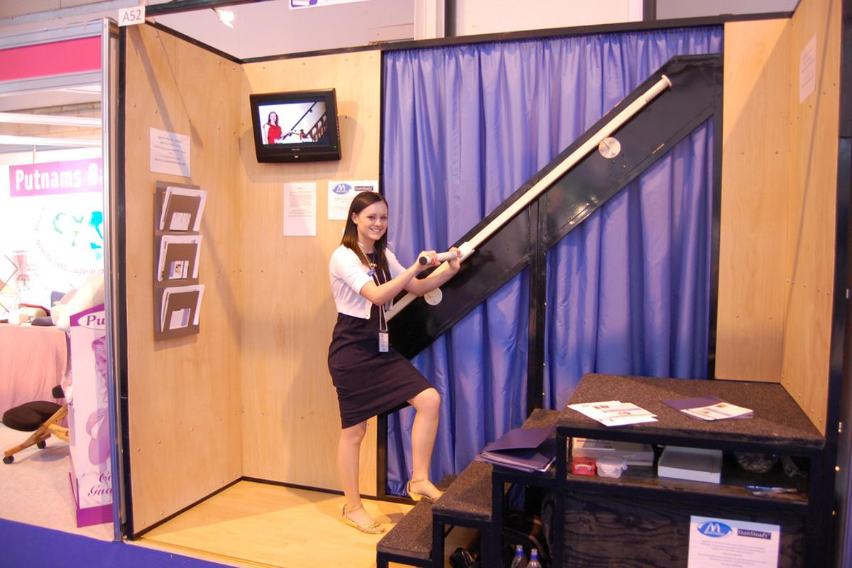 Inventor Ruth Amos demonstrates StairSteady