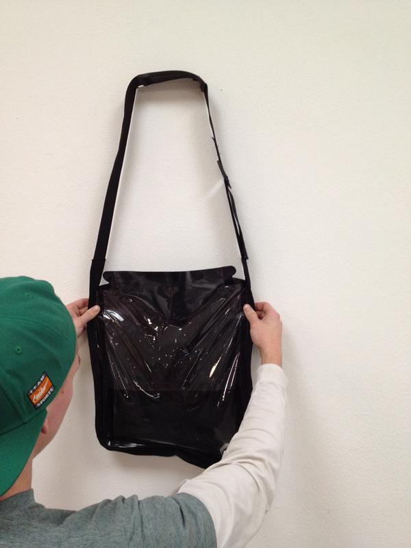 The Solar Bag can be hung up in a kitchen or cooking area