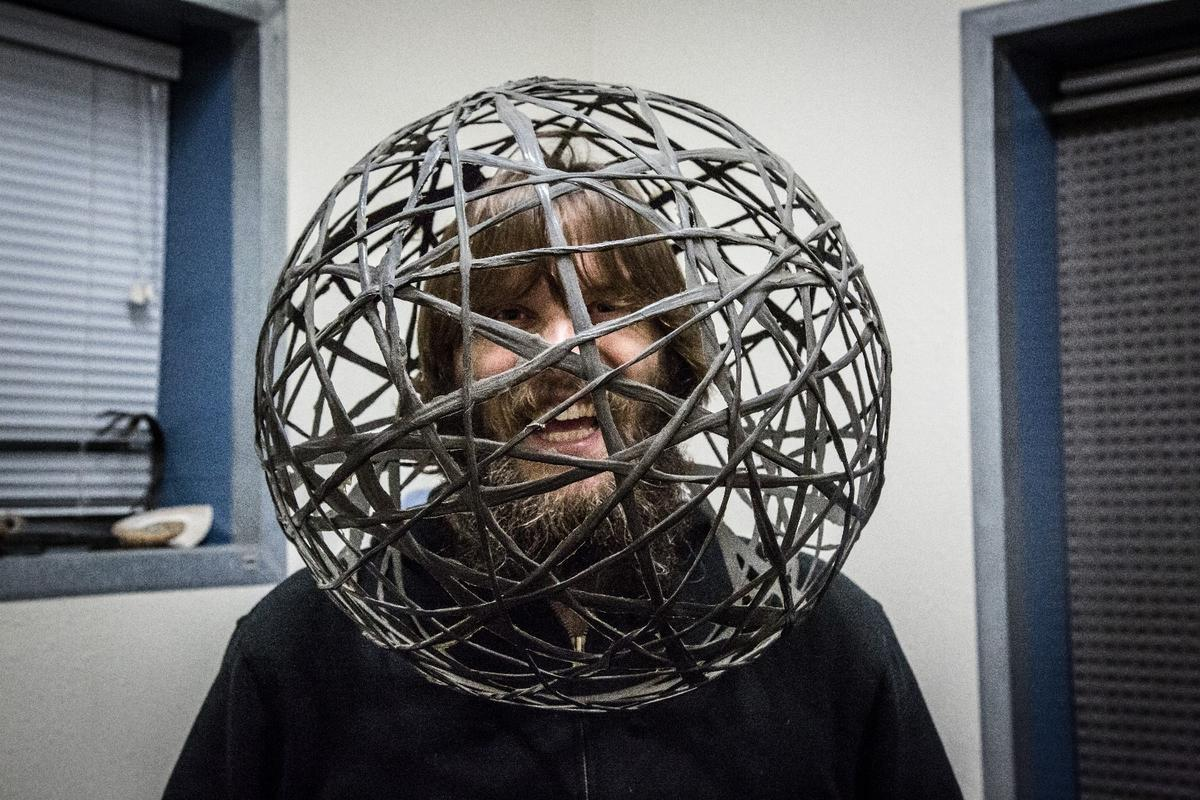 Luke Workman: checking out life from inside a carbon fiber sphere made by bicycle wizard Craig Calfee