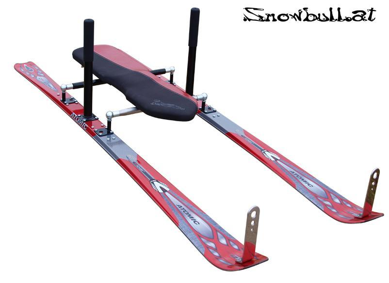 The Snowbull combines skis, sled and luge (older version)