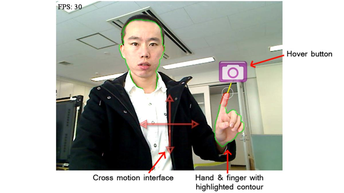 The augmented live view that allows users to control the camera's pan, tilt and shutter