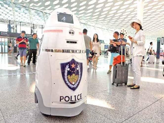 The AnBot on patrol in China