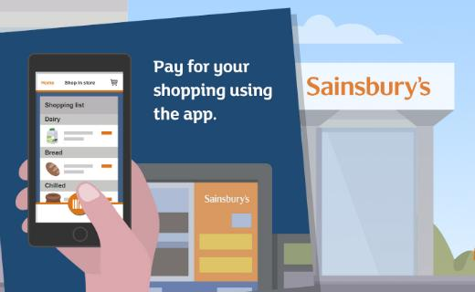 UK supermarket Sainsbury's is set to trial a new app via which customers can pay for their shopping instead of visiting a checkout